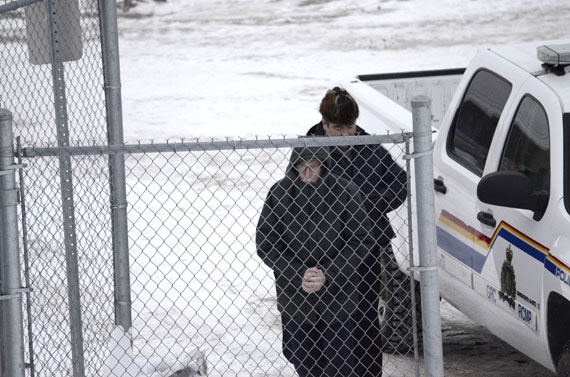Oblate priest Eric Dejaeger is led into court during his trial in Iqaluit, which started Nov. 18 before Justice Robert Kilpatrick. (FILE PHOTO)