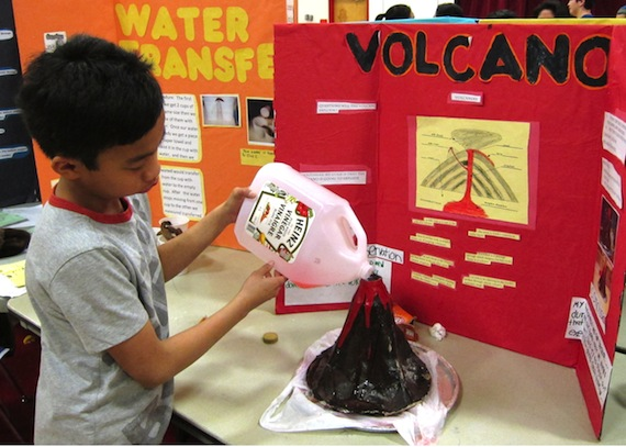 Photo: Rankin Inlet students show off their science fair
