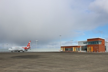 Transport Canada has denied a request from the Kativik Regional Government to install a CATSA screening station in the newly-upgraded Puvirnituq airport, pictured here. (FILE PHOTO)