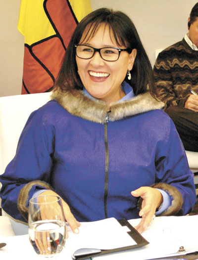Nunavut MP Leona Aglukkaq at an Arctic Council consultation meeting in Iqaluit. Aglukkaq said Canada's chairmanship of the council, which began this past May, was a highlight of 2013. (FILE PHOTO)