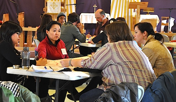 Iqaluit residents take part in a roundtable discussions on food security and poverty in 2011, hosted by Nunavut's Anti-Poverty Secretariat. A new report commissioned by the secretariat says Nunavummiut are too dependent on social assistance. (FILE PHOTO)