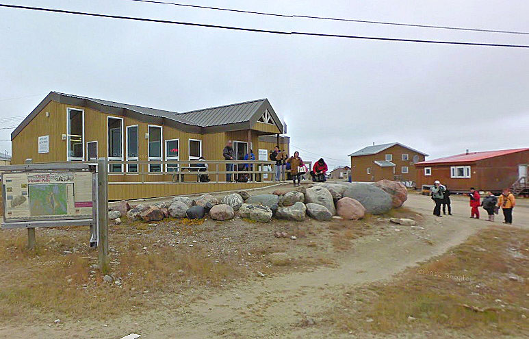 Recognize yourself? Now the world can catch a glimpse inside Nunavut through Google Streetview, including this scene here in Cambridge Bay. If you go to http://tinyurl.com/p5d4wsy, you can see 360-degree views of Iqaluit and Cambridge Bay and even some panoramic views indoors. (SCREEN CAP FROM GOOGLE STREETVIEW)
