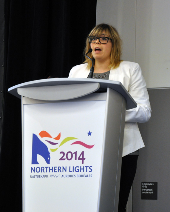 """We want to be in Nunavut for a long time,"" said Agnico Eagle's Krystel Mayrand. (PHOTO BY SARAH ROGERS)"