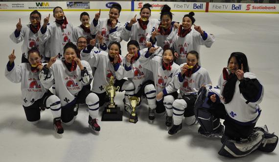 Photo: Nunavik Nordiks midget girls take gold - again | Nunatsiaq News