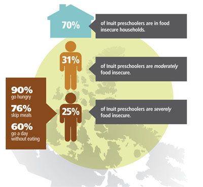 This graph illustrates some of the old news contained in a big Aboriginal food security report released March 27 by the Council of Canadian Academies. The information shown here was first reported in 2009. (IMAGE FROM COUNCIL OF CANADIAN ACADEMIES)