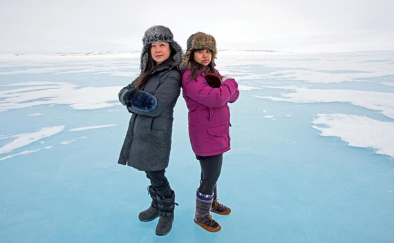 Gloria Guns and Christine Aye made up the Cambridge Bay synth-pop duo Scary Bear Soundtrack, who were the top Nunavut act to emerge from CBC's Searchlight music competition. (PHOTO BY DENISE LEBLEU IMAGES)