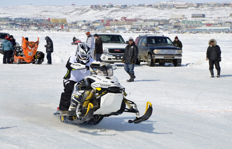 Photo: Snowmobile drag races for Toonik Tyme | Nunatsiaq News
