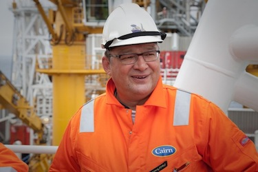 Greenland's ex-premier Kuupik Kleist, visits an oil drilling rig off Greenland in 2011. This past February, the government of his successor, Alequa Hammond, pledged that it will forge ahead with offshore oil and gas development. (FILE PHOTO)