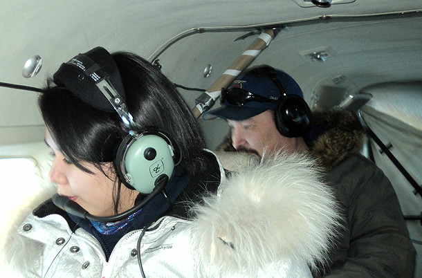Community observers were invited along on some of the aerial surveys to show them how the caribou counts on Baffin Island were done. (PHOTO COURTESY DEPARTMENT OF ENVIRONMENT)