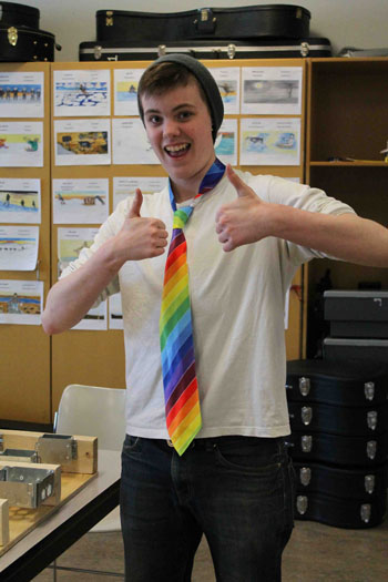 Kelsey Barton, 18, says Rainbow Day has helped open an important discussion at Killinik school and throughout the larger community.(PHOTO COURTESY OF KILLLINIK)