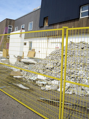 The Qikiqtani General Hospital renovation project in Iqaluit stalled in May 2013. (FILE PHOTO)