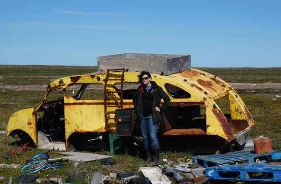 An old snow machine sits at the edge of Arviat's dump, one of the many vehicles that's been rusting outside the community for decades. (PHOTO COURTESY OF SUMMERHILL IMPACT)