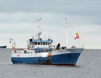 The Arctic Fishery Alliance's vessel the Kiviuq I anchored off Grise Fiord. (PHOTOS COURTESY OF THE AFA)