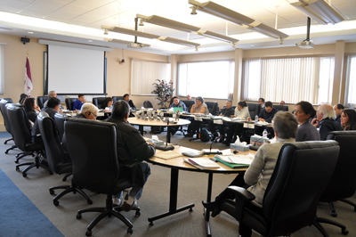 Kativik Regional Government council heard a number of concerns this week about police aggression and how to file a complaint. (PHOTO BY SARAH ROGERS)