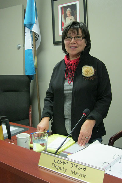 Iqaluit Mayor Mary Wilman said in a letter sent Feb. 11 to the Iqaluit Chamber of Commerce that the city is happy to continue consulting with the local business community. (FILE PHOTO)