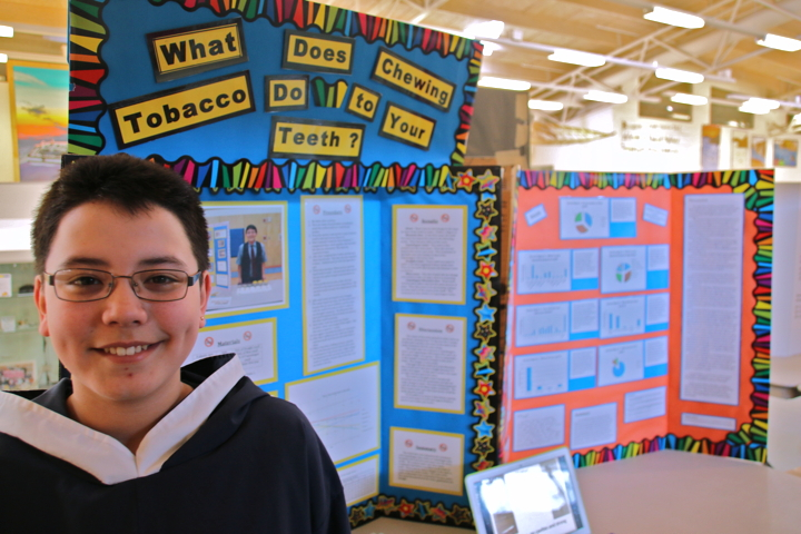 chewing tobacco project nets top prize at nunavut science fair