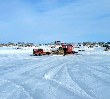 Cement powder heads to the Hope Bay mine from Cambridge Bay earlier this month. (PHOTO COURTESY OF TMAC)