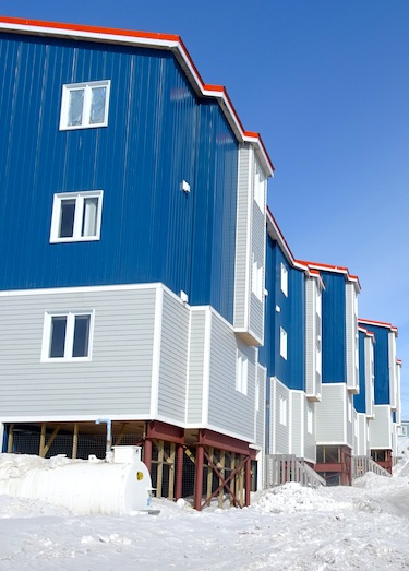 If you live in a multi-dwelling building like this one in Iqaluit, you may be able to smell second-hand smoke from your neighbours if they smoke inside. (PHOTO BY JANE GEORGE)