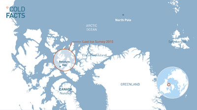 Two Dutch researchers skiing through a region outside of Resolute Bay, referred to as the Last Ice Area, are presumed to have drowned after falling through broken ice. (PHOTO COURTESY OF COLD FACTS)
