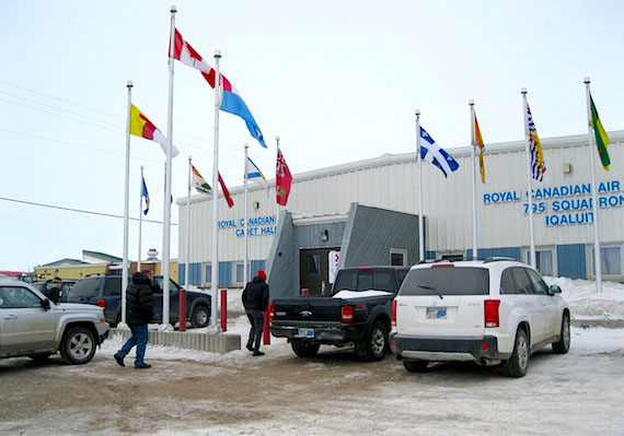Iqaluit residents file in and out of a polling station at the cadet hall throughout the day, April 20, to mark whether they are in favour of a territorial government proposal to open a beer and wine store in the city. (PHOTO BY PETER VARGA)