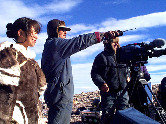 Zach Kunuk directs a scene from Atanarjuat: The Fast Runner, now listed as the best Canadian film of all time. (FILE PHOTO)