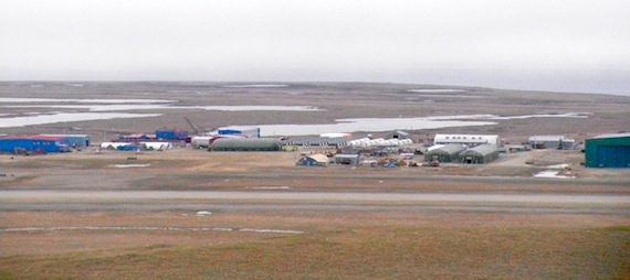 The airport of Resolute Bay is among the sites in Canada and Alaska which are involved in the Amalgam Dart military exercise now underway. (PHOTO BY JANE GEORGE)