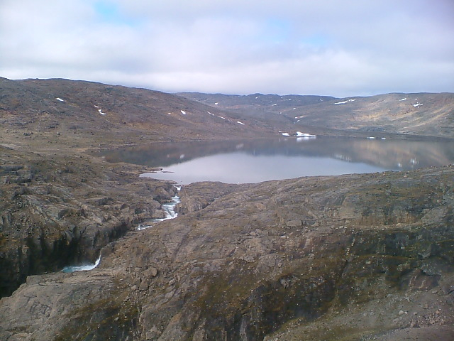 Upper Lake at Jaynes Inlet, about 80 km south of Iqaluit, a site the Qulliq Energy Corp. once contemplated for a hydroelectric project. But those hydro plans are now on hold and the minister responsible for the QEC, Keith Peterson, says Nunavut