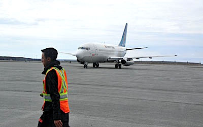 First Air announced a new codeshare agreement May 13 with Canadian North and Calm Air. (PHOTO BY SARAH ROGERS)