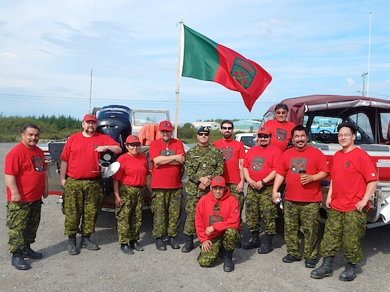 While their annual training exercise usually takes place on the land in winter, the Kuujjuaq Canadian Rangers patrol are preparing instead to train in the fall this year. Rangers from that Nunavik community, seen here recently, prior to their departure, will ply the Koksoak River by boat for marine orientation and cold water immersion exercises, along with other skills training. (PHOTO COURTESY OF W.O. BOUDREAULT/CANADIAN RANGERS)