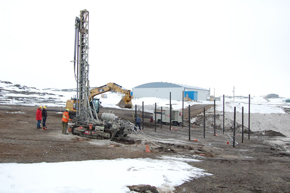 Quebec's social housing agency has begun construction on two units of a new housing model in the Nunavik community of Quaqtaq, which it says it better adapted to a northern reality. (PHOTO COURTESY OF SHQ)