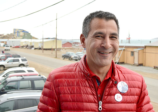 "Hunter Tootoo, Liberal candidate for Nunavut: ""I have a lot of political experience, I know how the system works."" (PHOTO BY STEVE DUCHARME)"