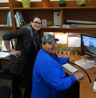 Crystal Qaumariaq, a community outreach officer, and Angulalik Pedersen, a technical science assistant, work with the Polar Knowledge Canada in Cambridge Bay to support the work of the Canadian High Arctic Research Station. (PHOTO BY JANE GEORGE)