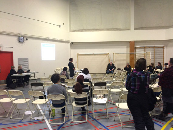 Iqaluit residents at a consultation meeting for a proposed new Mental Health Act. (FILE PHOTO)