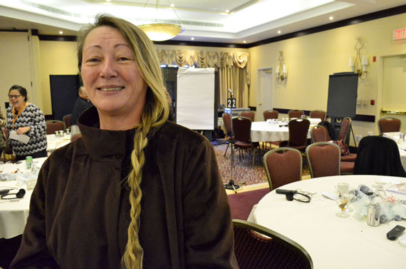Selina Adams, originally from Nunatsiavut, has lived in Toronto since 1979. But she has never given up her Inuit identity. Now, she's involved with a group called Inuit of Toronto Urban Katimavik. (PHOTO BY JIM BELL)