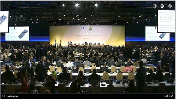 You can watch what's happening in Paris where the COP21 climate change talks are taking place on live webcasts. (PHOTO COURTESY OF UNEP)