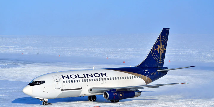 FlySarvaq will use Nolinor Aviation's Boeing 737 aircraft and pilots on a new scheduled service that will start flying May 6 this year. (FILE PHOTO)