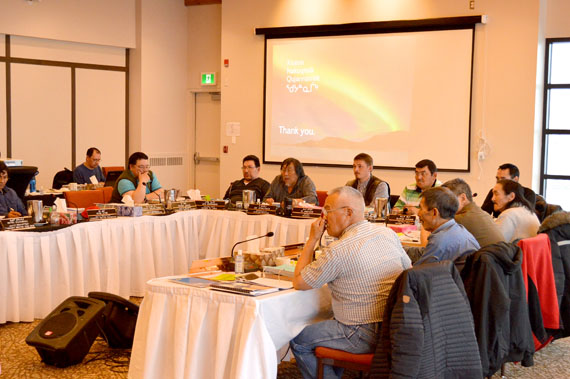 The Qikqtani Inuit Association annual general meeting in Iqaluit this past October. The organization's board will hold two days of meetings in Iqaluit starting Feb. 17. (FILE PHOTO)