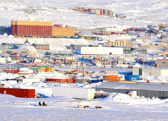 A Feb. 27 blizzard in Iqaluit clears and gives way to brilliant sun Feb. 28, when dog sled teams and Iqalungmiut alike got out to enjoy the beautiful weather. Environment Canada is forecasting clear skies for Nunavut's capital all week. (PHOTO BY SARAH ROGERS)