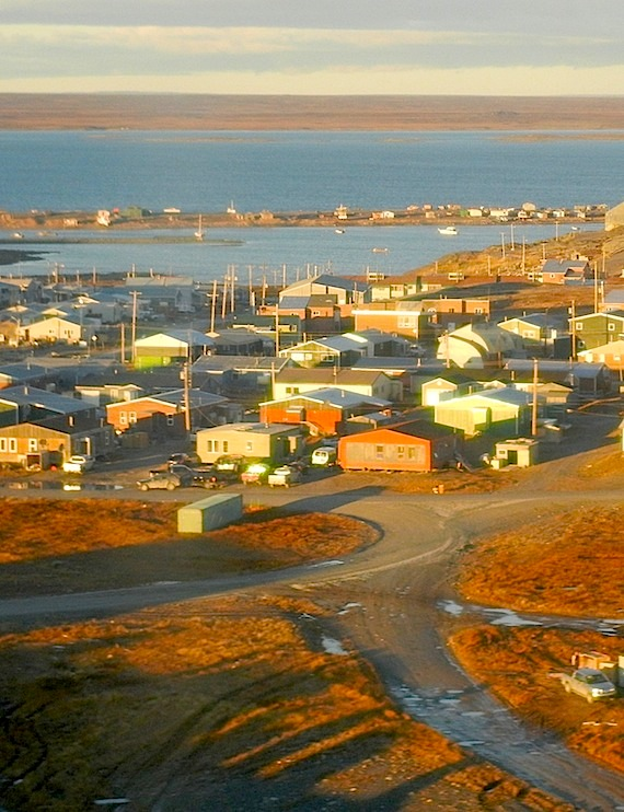 Rankin Inlet in the sun: Dwayne Sateana, 31, beat Edith Angalik, 24, to death in Rankin Inlet in 2014 after finding her sleeping with another man. (FILE PHOTO)