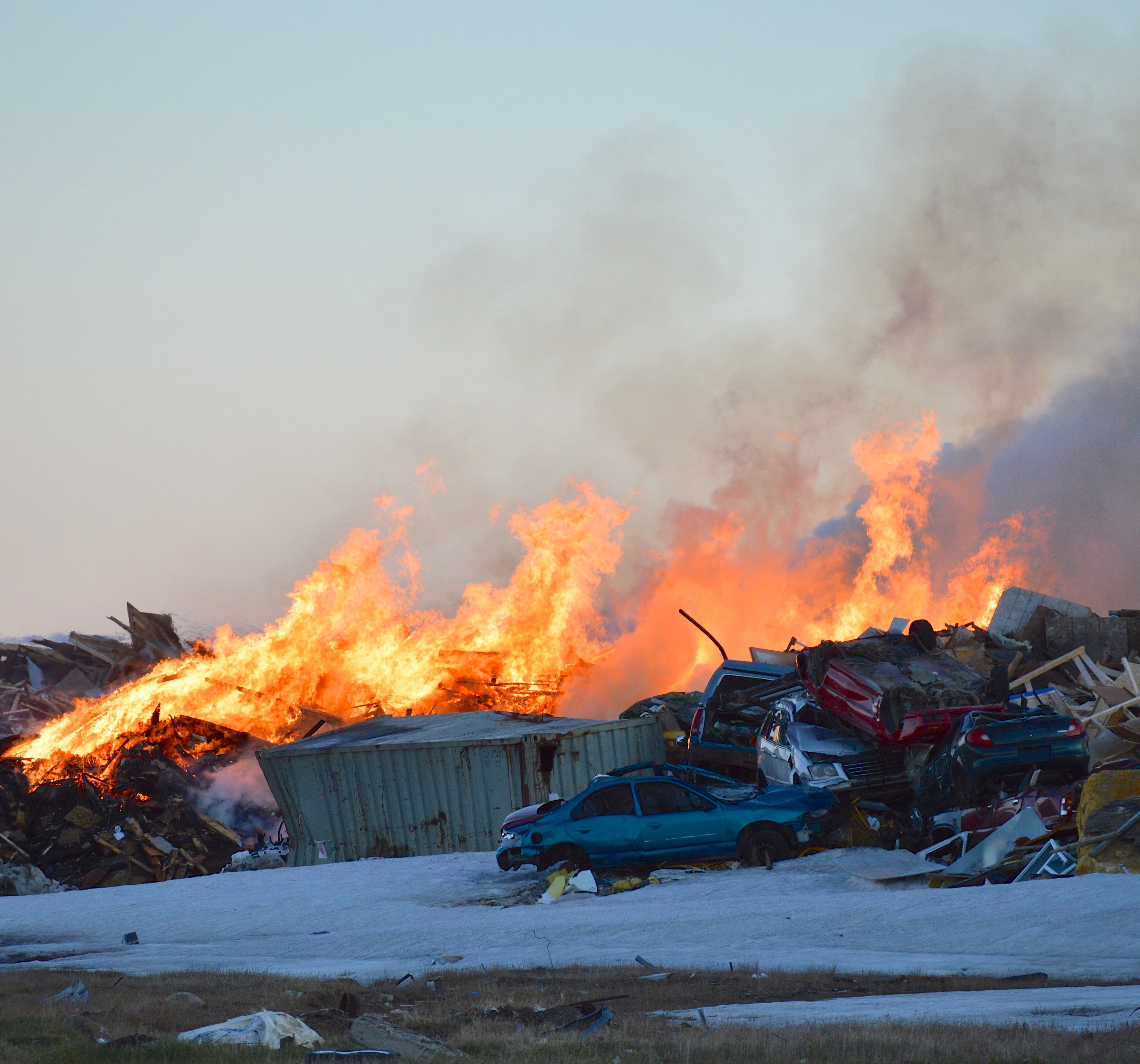 Here's how the latest dump fire in Iqaluit looked on June 20. (PHOTO BY STEVE DUCHARME)