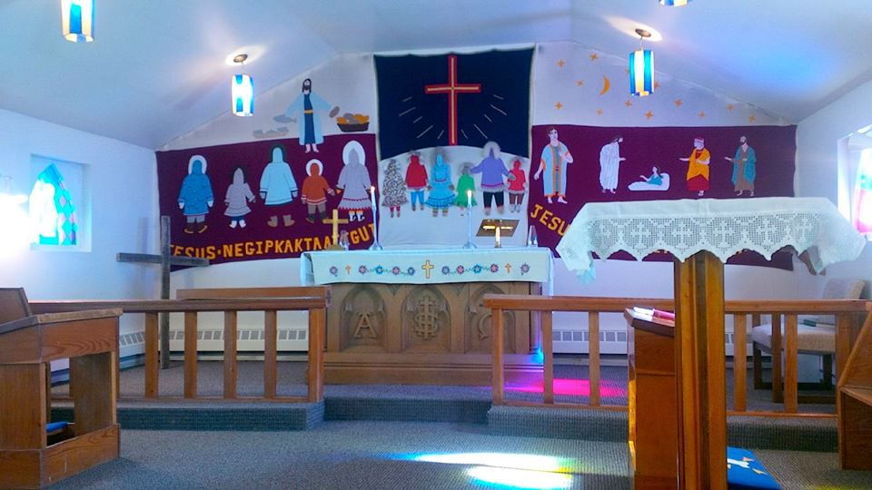 Among the sights in Cambridge Bay which are likely to be open for passengers from the Crystal Serenity: the St. George's Anglican Church. (PHOTO BY JANE GEORGE)