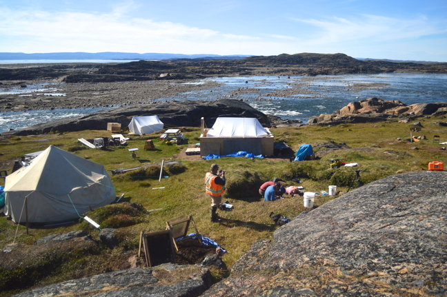 Archaeologists believe occupation of the Crystal II site near the Sylvia Grinnell River outside of Iqaluit dates back to pre-Dorset culture. (PHOTO BY STEVE DUCHARME)