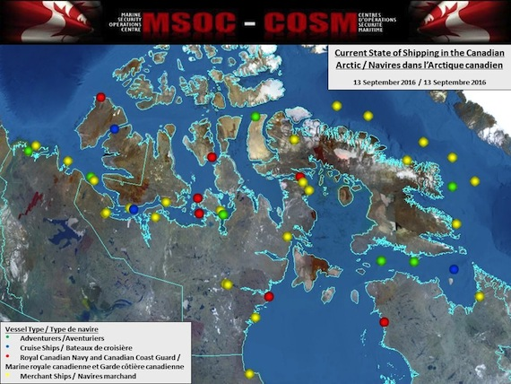 Ship Traffic Map.Less Ice More Ship Traffic Prompts Arctic Marine Safety Review