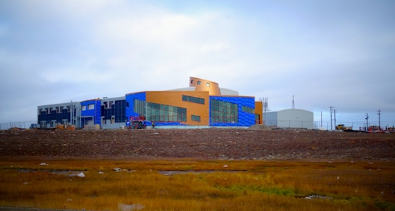 The outside of Canadian High Arctic Research Station, seen here in a recent view, will be covered in a copper-coloured material before winter sets in. (PHOTO BY JANE GEORGE)