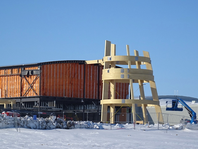 The $142-million Canadian High Arctic Research Station, currently under construction in Cambridge Bay, is set to open in July 2017 but Safety Act charges are now pending against construction manager EllisDon and subcontractors. (FILE PHOTO)