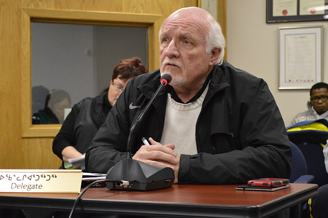Ken Spencer, property manager for Red Boat Properties Ltd. which currently has an office in the HBC buildings in Apex, spoke in favour of the zoning amendment because he says the company wants to continue operating there.