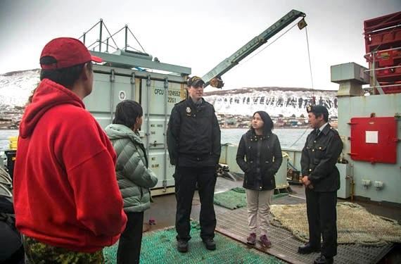 Photo: All cadets on deck | Nunatsiaq News