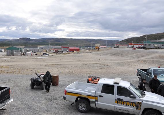 Many public buildings in Kangiqsualujjuaq, pictured here in 2013, closed Sept. 26 as police tracked down an armed man. The suspect turned himself into police Sept. 27. (PHOTO BY SARAH ROGERS)