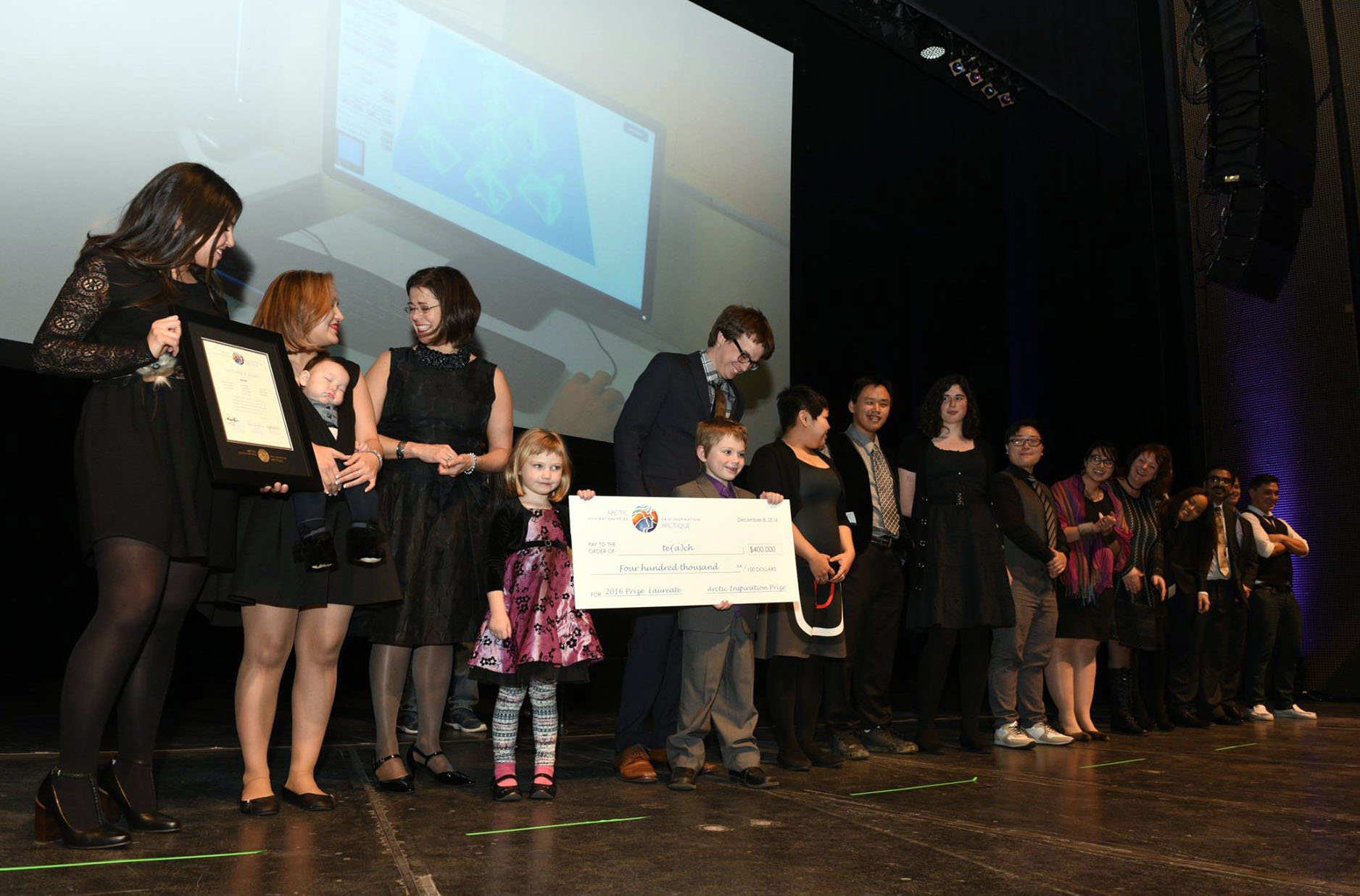 Members of te(a)ch, including Pinnguaq's Ryan Oliver, were named as an Arctic Inspiration Prize laureate Dec. 8 and awarded $400,000 to deliver their computer science-based curriculum. (PHOTO COURTESY OF AIP)