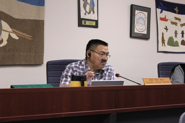 Iqaluit city councillor Joanasie Akumalik added homelessness to the agenda at a Jan. 10 council meeting to try to help people through the cold winter months when they have no place to go. (PHOTO BY LISA GREGOIRE)